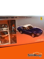 Fujimi: Model car kit 1/24 scale - Ferrari 365 GTB/4 Daytona Speciale - plastic parts, rubber parts, water slide decals, assembly instructions and painting instructions image