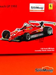 Fujimi: Model car kit 1/20 scale - Ferrari 126C2 Agip #27, 28 - Gilles Villeneuve (CA), Didier Pironi (FR) - USA West Long Beach Grand Prix 1982 image