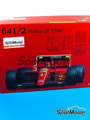 Fujimi: Model car kit 1/20 scale - Ferrari 641/2 F1-90 Agip Fiat #1 - Alain Prost (FR) - French Grand Prix 1990