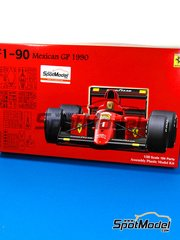 Fujimi: Model car kit 1/20 scale - Ferrari 641/2 F1-90 Fiat Agip #1 - Alain Prost (FR) - Mexican Grand Prix 1990 - plastic parts, rubber parts, water slide decals and assembly instructions