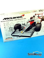 Fujimi: Model car kit 1/20 scale - McLaren Honda MP4/6 Shell #1, 2 - Ayrton Senna (BR), Gerhard Berger (AT) - Japan Grand Prix 1991 - plastic model kit