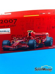 Fujimi: Model car kit 1/20 scale - Ferrari F2007