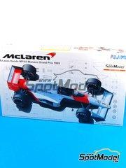 Fujimi: Maqueta de coche escala 1/20 - McLaren Honda MP4/5 Marlboro Nº 1, 2 - Ayrton Senna (BR), Alain Prost (FR) - Gran Premio de Formula 1 de Mónaco 1989 - maqueta de plástico