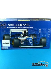 Fujimi: Model car kit 1/20 scale - Williams Renault FW16 Segafredo #0, 2 - Ayrton Senna (BR), Damon Hill (GB) - World Championship 1994 - plastic model kit