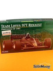 Fujimi: Model car kit 1/20 scale - Lotus Renault 97T John Player Special #11, 12 - Ayrton Senna (BR), Elio de Angelis (IT) - Portuguese Grand Prix 1985 image
