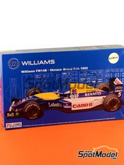 Fujimi: Model car kit 1/20 scale - Williams Renault FW14B Canon #5, 6 - Nigel Ernest James Mansell (GB), Riccardo Patrese (IT) - Monaco Formula 1 Grand Prix 1992 - plastic model kit