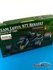 Fujimi: Model car kit 1/20 scale - Lotus Renault 97T John Player Special #11, 12 - Ayrton Senna (BR), Elio de Angelis (IT) - Belgian Grand Prix 1985 - plastic model kit image