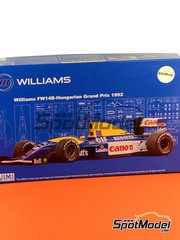 Fujimi: Model car kit 1/20 scale - Williams Renault FW14B Canon #5, 6 - Nigel Ernest James Mansell (GB), Riccardo Patrese (IT) - Hungary Grand Prix 1992 - plastic model kit image