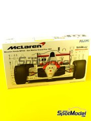 Fujimi: Model car kit 1/20 scale - McLaren Honda MP4/6 Marlboro #1, 2 - Ayrton Senna (BR), Gerhard Berger (AT) - San Marino Grand Prix 1991 - plastic model kit image