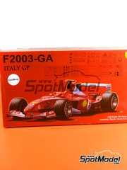 Fujimi: Model car kit 1/20 scale - Ferrari F2003-GA Shell #1, 2 - Michael Schumacher (DE), Rubens Barrichello (BR) - Italian Grand Prix 2003 - plastic model kit image
