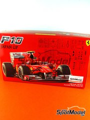 Fujimi: Model car kit 1/20 scale - Ferrari F10 Banco Santander #6, 7 - Fernando Alonso (ES), Felipe Massa (BR) - Japan Grand Prix 2010