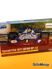 Fujimi: Model car kit 1/20 scale - Tyrrell Ford P34 Six Wheels ELF #3 - Ronnie Peterson (SE) - Japan Grand Prix 1977 image