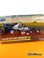 Fujimi: Model car kit 1/20 scale - Tyrrell Ford P34 ELF #4 - Patrick Depailler (FR) - Japan Grand Prix 1977 - plastic model kit image