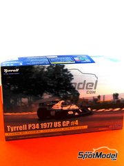 Fujimi: Model car kit 1/20 scale - Tyrrell Ford P34 Six Wheels ELF #4 - USA Grand Prix 1977 image