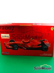 Fujimi: Model car kit 1/20 scale - Ferrari F2007 AMD #6, 7 - Felipe Massa (BR), Kimi Räikkönen (FI) - World Championship 2007 - plastic parts, rubber parts, water slide decals and assembly instructions