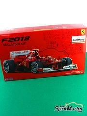 Fujimi: Model car kit 1/20 scale - Ferrari F2012 Banco Santander #5, 6 - Fernando Alonso (ES), Felipe Massa (BR) - Malaysia Grand Prix 2012