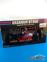 Fujimi: Model car kit 1/20 scale - Brabham Alfa Romeo BT46B Parmalat #1, 2 - Niki Lauda (AT), John Watson (GB) - Swedish Grand Prix 1978 - plastic parts, rubber parts, water slide decals and assembly instructions