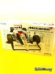 Fujimi: Model car kit 1/20 scale - McLaren Honda MP4/6 Marlboro #1,2 - Ayrton Senna (BR), Gerhard Berger (AT) - Spanish Grand Prix 1991 image
