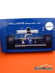 Fujimi: Model car kit 1/20 scale - Williams Renault FW16 ELF #2, 0 - Damon Hill (GB), Ayrton Senna (BR) - Brazilian Formula 1 Grand Prix, San Marino Formula 1 Grand Prix, Pacific Formula 1 Grand Prix 1994 - plastic parts, rubber parts, water slide decals, assembly instructions and painting instructions