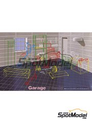 Fujimi: Model car kit 1/24 scale - Garage