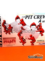 Fujimi: Figures set 1/20 scale - Pit crew - A - plastic parts, water slide decals and assembly instructions
