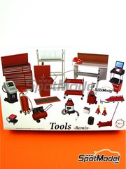 Fujimi: Model kit 1/24 scale - Tools set 3 - plastic parts, other materials and assembly instructions
