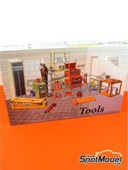 Fujimi: Model kit 1/24 scale - Tools - plastic parts, water slide decals, other materials and assembly instructions image