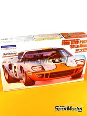 Fujimi: Model car kit 1/24 scale - Ford GT40 P1045 Gulf #6 - 24 Hours Le Mans 1969