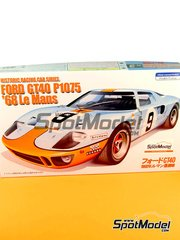 Fujimi: Model car kit 1/24 scale - Ford GT40 P1075 Gulf #9 - 24 Hours Le Mans 1968 image