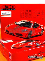 Fujimi: Model car kit 1/24 scale - Ferrari F430 Scuderia