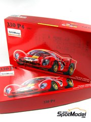 Fujimi: Model car kit 1/24 scale - Ferrari 330 P4 #19, 24 - 24 Hours Le Mans 1967 - 120 pieces