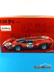 Fujimi: Model car kit 1/24 scale - Ferrari 330 P4 #26 - 24 Hours Daytona 1967 - plastic kit, photo-etched parts
