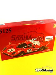 Fujimi: Model car kit 1/24 scale - Ferrari 512S Short Tail Scuderia Filipinetti #4, 23, 28 - plastic model kit