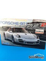 Fujimi: Model car kit 1/24 scale - Porsche 911 GT3R - plastic parts, rubber parts, water slide decals and assembly instructions