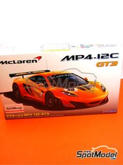 Fujimi: Model car kit 1/24 scale - McLaren MP4-12C GT3 Blancpain #60 - Klaas Hummel (NE) + Pierre Kaffer (DE) + Adam Christodoulou (GB) - 24 Hours SPA Francorchamps 2011