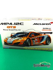 Fujimi: Model car kit 1/24 scale - McLaren MP4-12C GT3 Gulf #21 - Danny Watts (GB) - Guia Race of Macau 2011