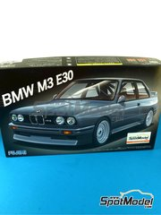 Fujimi: Model car kit 1/24 scale - BMW M3 E30 - plastic parts, rubber parts, water slide decals and assembly instructions image