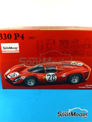 Fujimi: Model car kit 1/24 scale - Ferrari 330 P4 SEV Marchal #26 - 24 Hours Daytona 1967 - photo-etched parts, plastic parts, rubber parts, water slide decals, assembly instructions and painting instructions