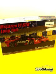 Fujimi: Model car kit 1/24 scale - McLaren F1 GTR Long Tail Lark #44 - 24 Hours Le Mans 1997