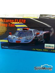 Fujimi: Model car kit 1/24 scale - McLaren F1 GTR Long Tail Gulf #41 - Anders Olofsson (SE) + Pierre-Henri Raphanel (FR) + Jean-Marc Gounon (FR) - 24 Hours Le Mans 1997 - plastic model kit image