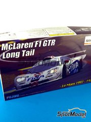 Fujimi: Model car kit 1/24 scale - McLaren F1 GTR Long Tail Fina #42 - Nelson Piquet (BR) + Jyrki Juhani 'JJ Lehto' Jarvilehto (FI) + Steve Soper (GB) - 24 Hours Le Mans 1997 - plastic model kit