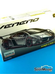 Fujimi: Model car kit 1/24 scale - Lamborghini Veneno - plastic parts, rubber parts, water slide decals and assembly instructions