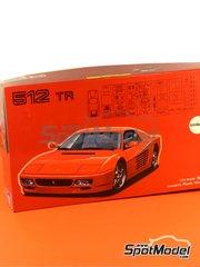 Fujimi: Maqueta de coche escala 1/24 - Ferrari 512TR - kit de plástico