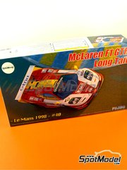 Fujimi: Model car kit 1/24 scale - McLaren F1 GTR Long Tail EMI #40 - Steve O'Rourke (GB) + Tim Sugden (GB) + Auberlen (US) - 24 Hours Le Mans 1998 - plastic model kit and photo-etched parts