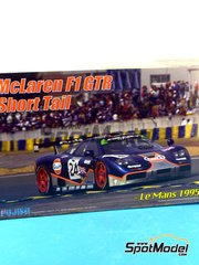 Fujimi: Model car kit 1/24 scale - McLaren F1 GTR Short Tail Gulf #24 - 24 Hours Le Mans 1995 - plastic model kit image
