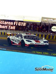 Fujimi: Model car kit 1/24 scale - McLaren F1 GTR Short Tail West FM #49 - 24 Hours Le Mans 1995 - plastic model kit
