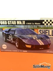Fujimi: Model car kit 1/24 scale - Ford GT40 Mk II #2 - 24 Hours Le Mans 1966 - plastic model kit