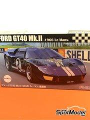 Fujimi: Maqueta de coche escala 1/24 - Ford GT40 Mk II Nº 2 - 24 Horas de Le Mans 1966 - kit de plástico