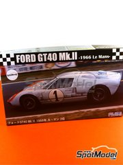 Fujimi: Model car kit 1/24 scale - Ford GT40 Mk II Gulf #1 - Denis Clive 'Denny' Hulme (NZ) + Kenper Miller (US) - 24 Hours Le Mans 1966 - plastic model kit