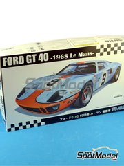 Fujimi: Model car kit 1/24 scale - Ford GT40 Mk II Gulf #9, 10, 11 - Pedro Rodriguez (MX) + Lucien Bianchi (BE) - 24 Hours Le Mans 1968 - plastic model kit image
